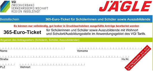 Antragsformular 365-Euro-Ticket VGI - Jägle Bus
