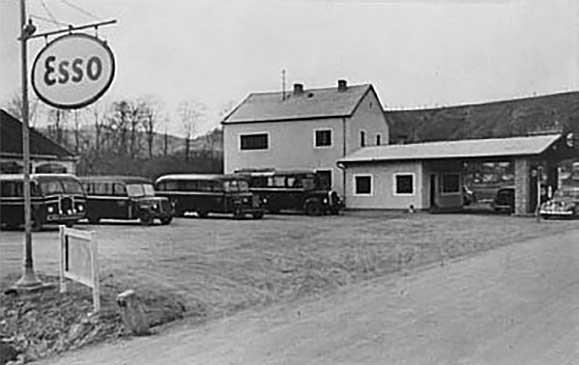 Firmengelände um 1949 - Jägle-Bus